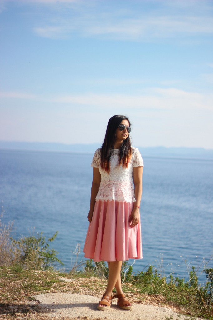Midi Skirt :  Enjoying the scenic Route in Croatia
