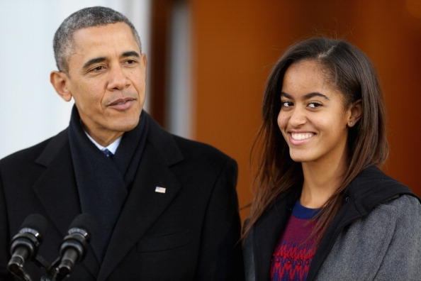 President Barack Obama has some advice for daughter Malia and students